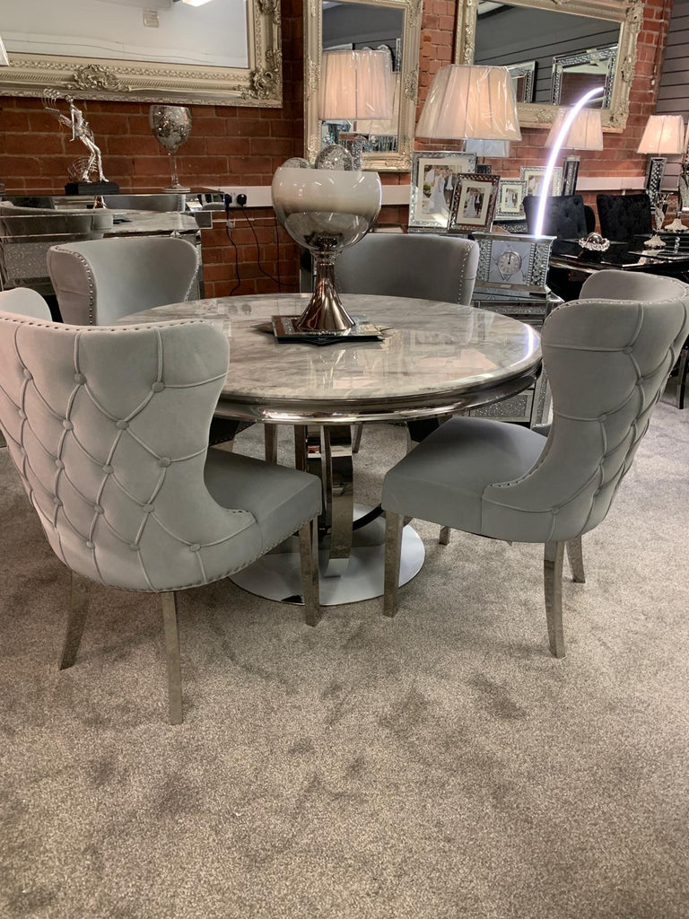 Marble Orion Round Dining Set