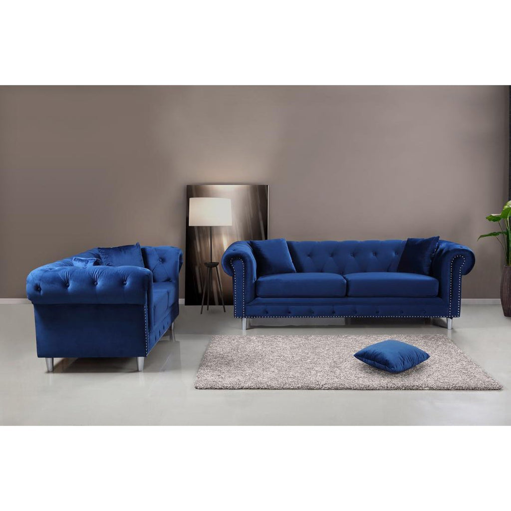 Kensington 3 & 2 Seater Sofa Set - Navy
