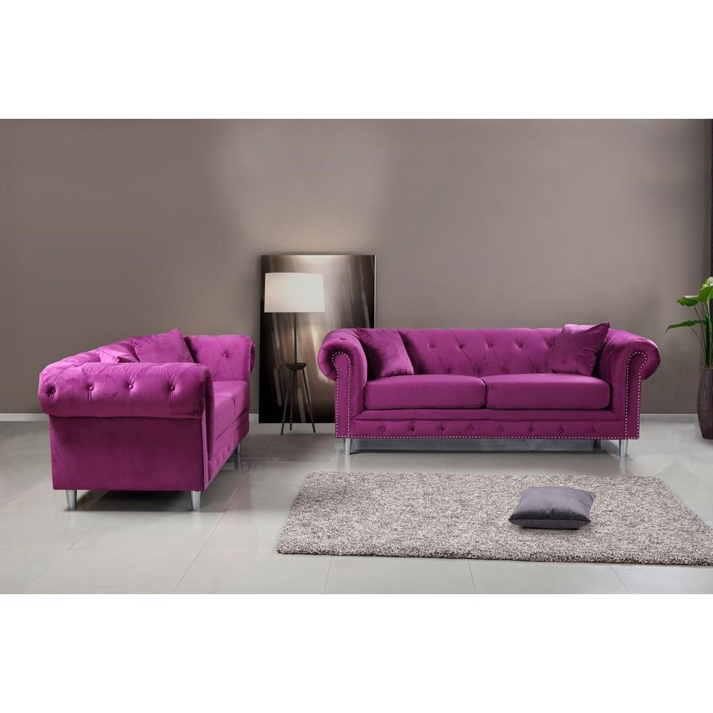 Kensington 3 & 2 Seater Sofa Set - Purple