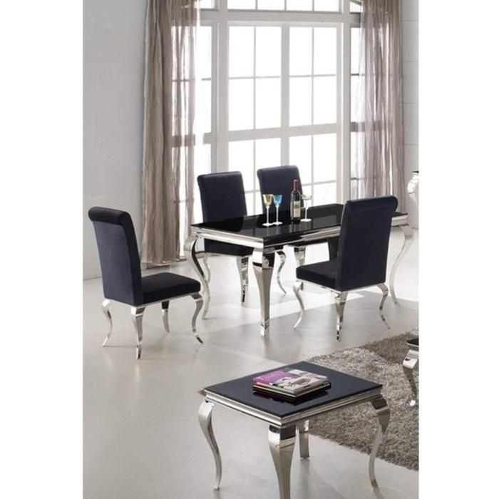 Louis Dining Table 1600mm - Black