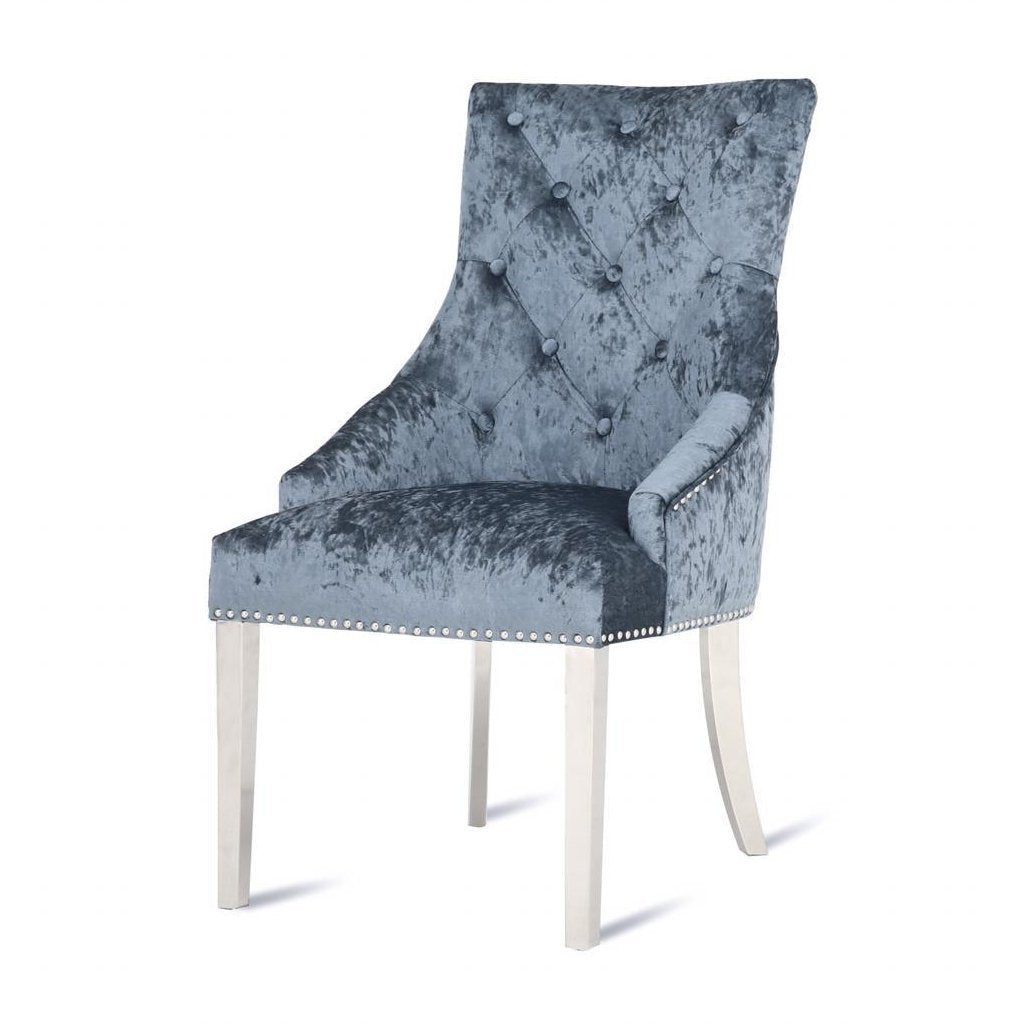 Louis Knockerback Dining Chair - Duck Egg