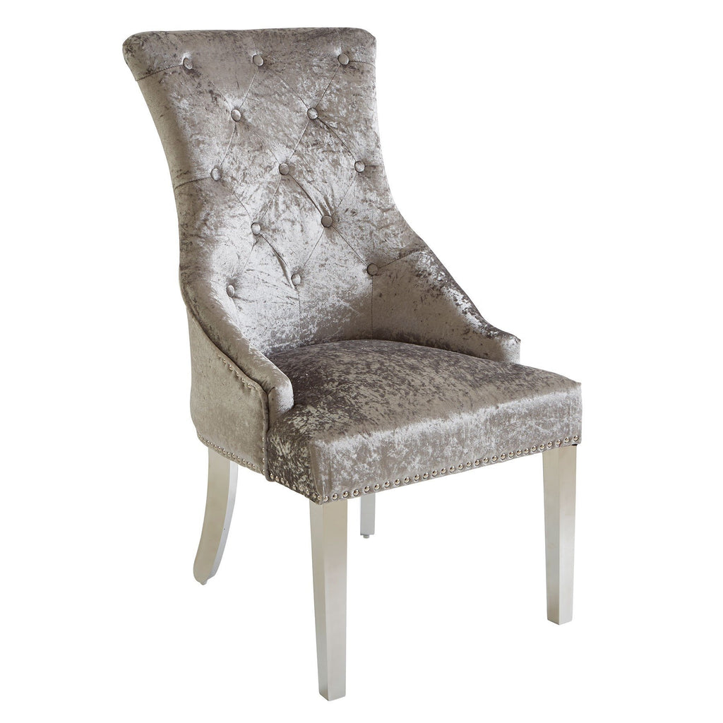 Louis Knockerback Dining Chair - Silver