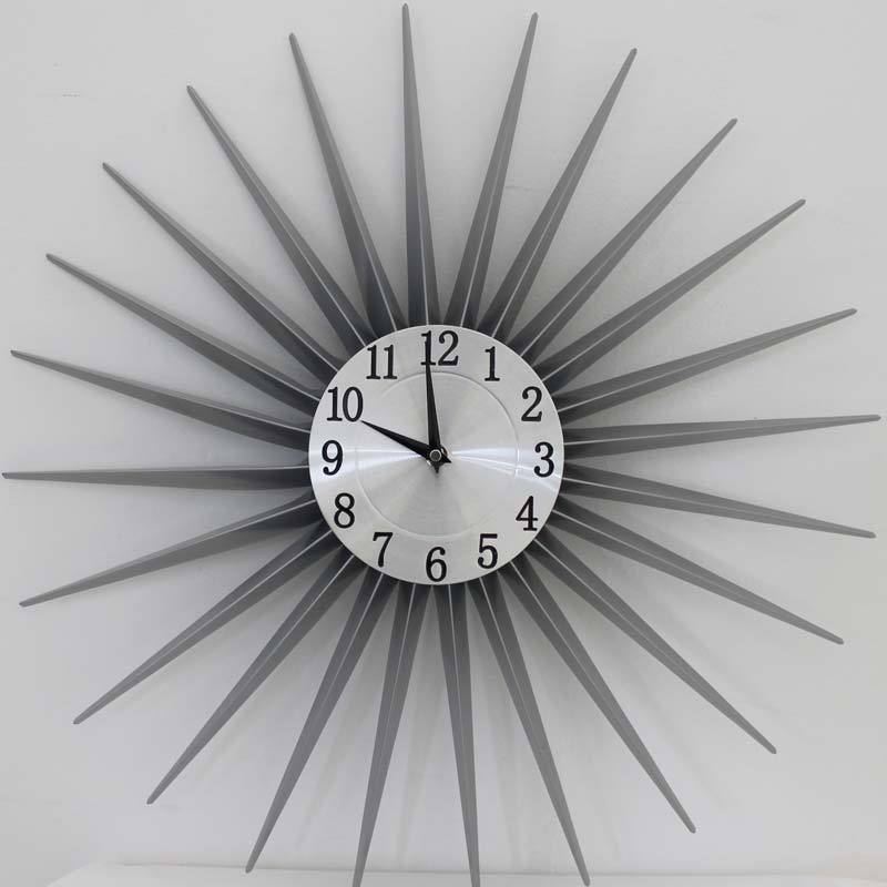 Metal Clock - Grey