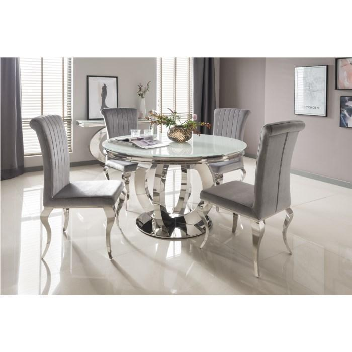Orion Round Dining Table - White