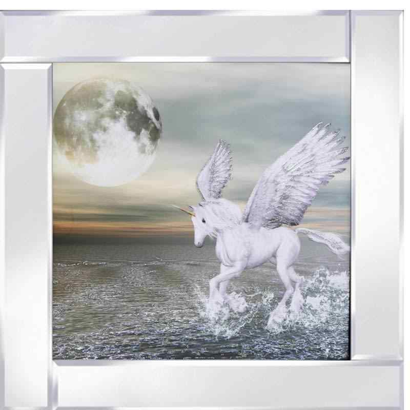 Pegasus Moon on Mirrored Frame