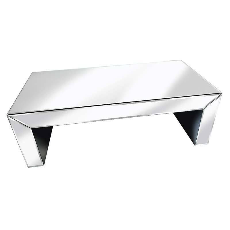 Supreme Mirrored Coffee Table Cube design
