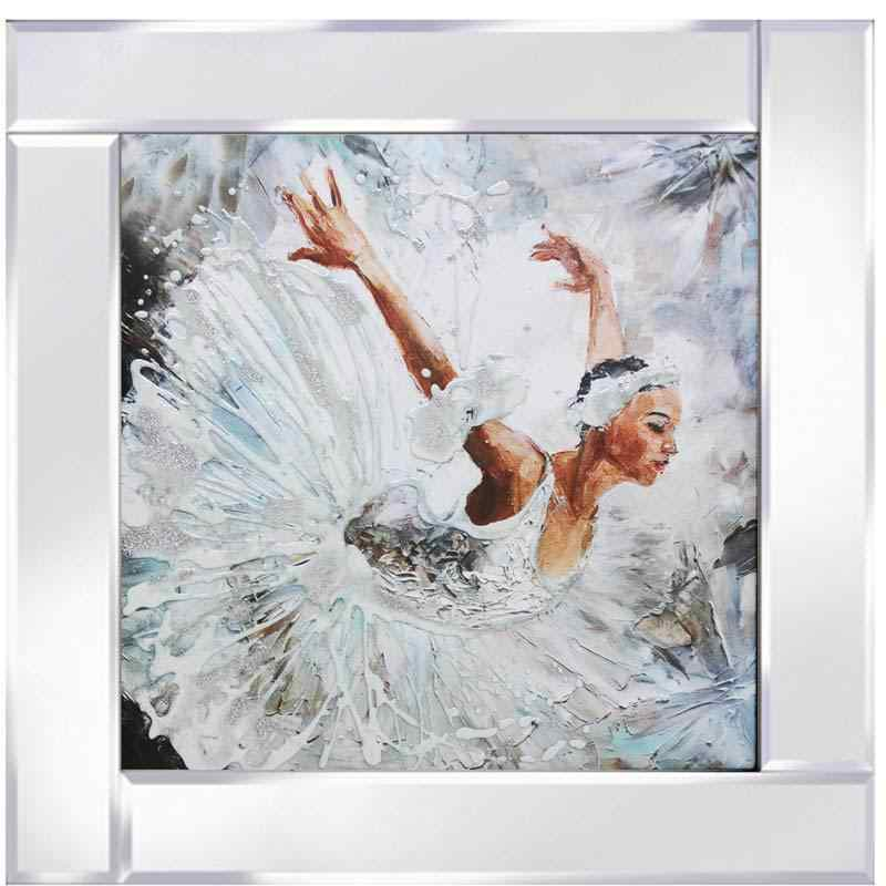 Take a Bow - The Ballerina on Mirrored Frame