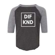 Load image into Gallery viewer, Toddler DIF KND Baseball Fine Jersey Tee