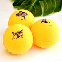 Load image into Gallery viewer, Bergamot & May Chang Essential Oil Bath Bomb
