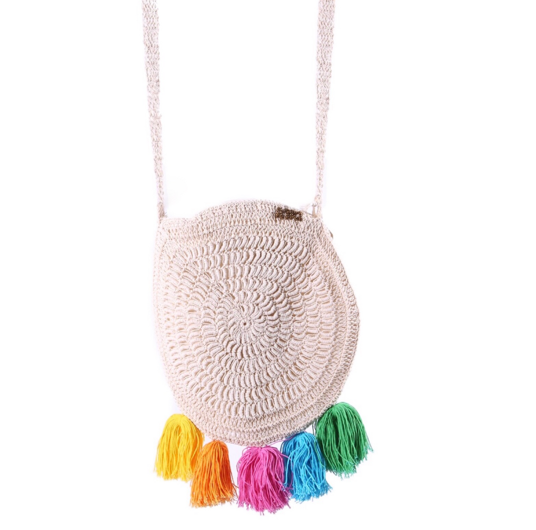 Rainbow Macrame Bag