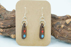 Turquoise, Red Coral and Walnut.