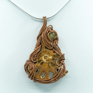 Ammonite and copper