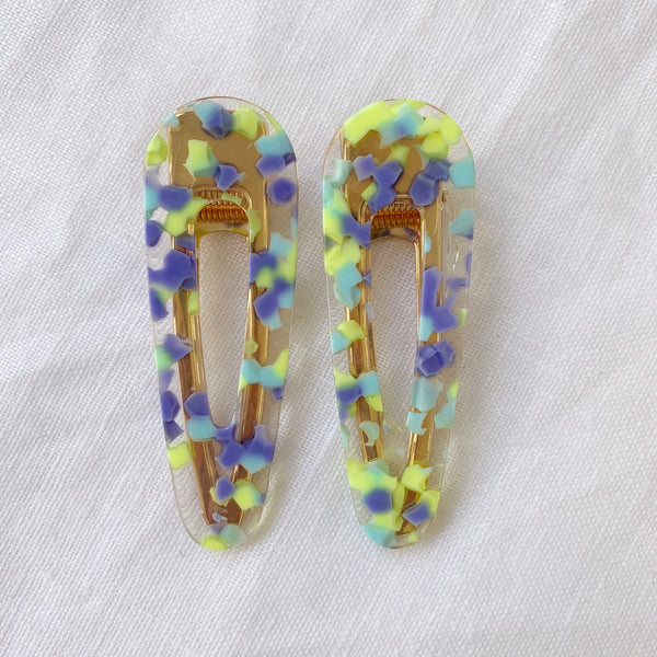 Party Time Hair Clips - Blue Mix
