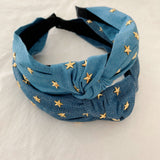 Light Denim Stars Headband