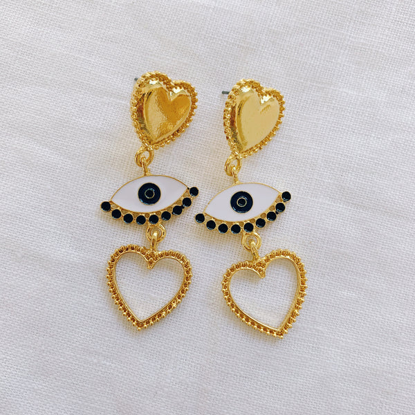 Eye Heart You Earrings