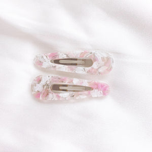 Mini Resin Clips - Soft Pink