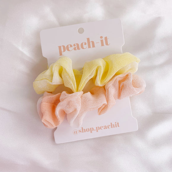 Harper Scrunchie Pack - Lemon/Orange