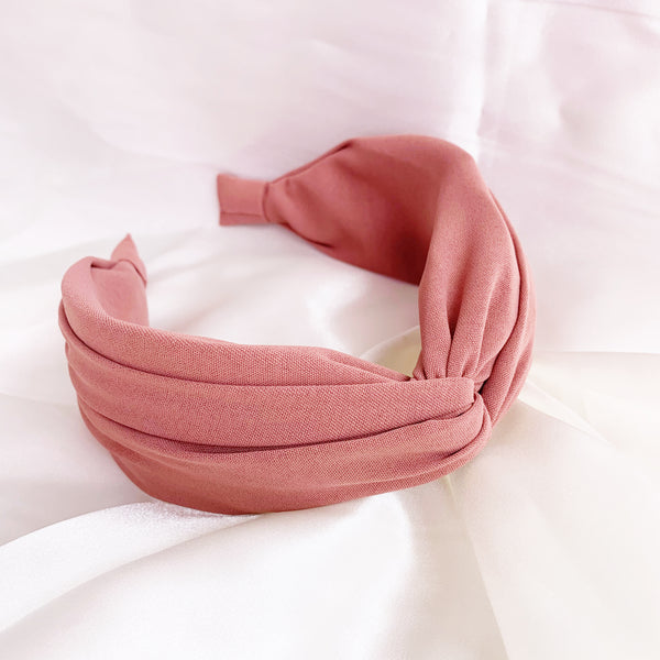 Esme TopKnot Headband - Salmon