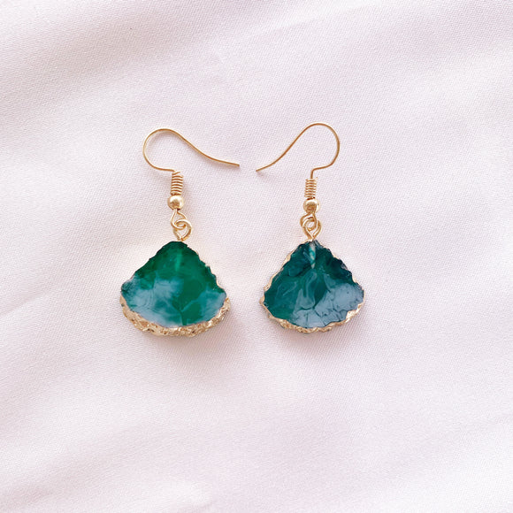 Wanderer Drop Earring - Emerald