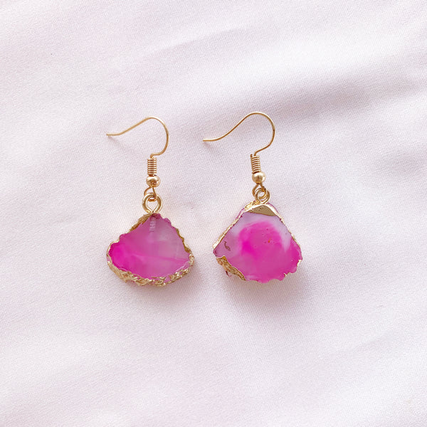 Wanderer Drop Earring - Pink