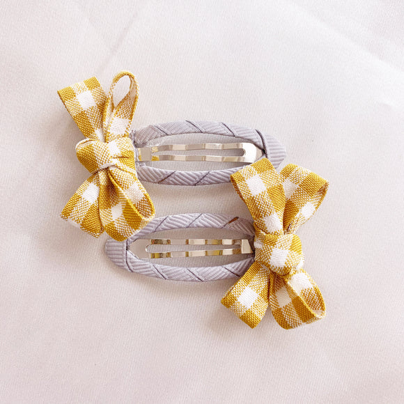 Gingham Hair Clip - Sunshine