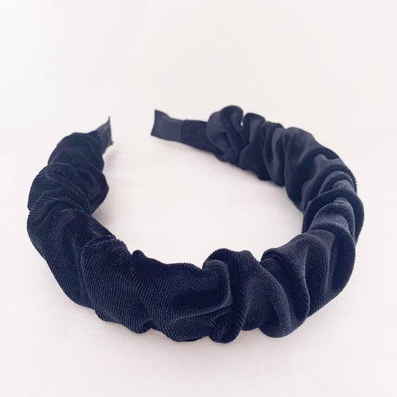 Lola Scrunch Headband - Black