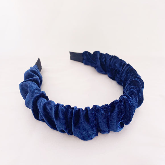 Lola Scrunch Headband - Navy