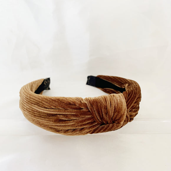 Gracie TopKnot Headband - Bronze