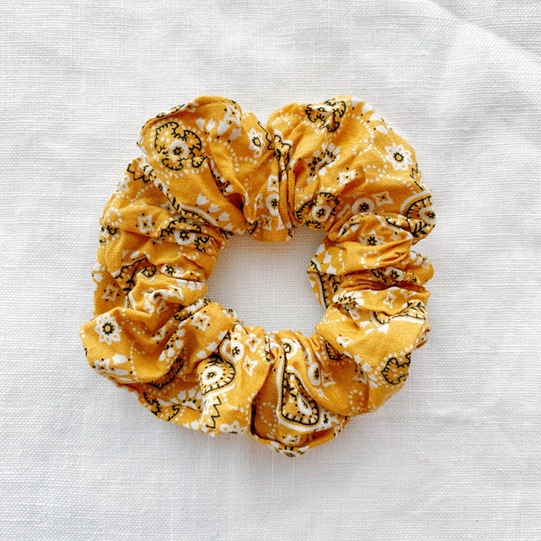 Bandana Scrunchie - Yellow