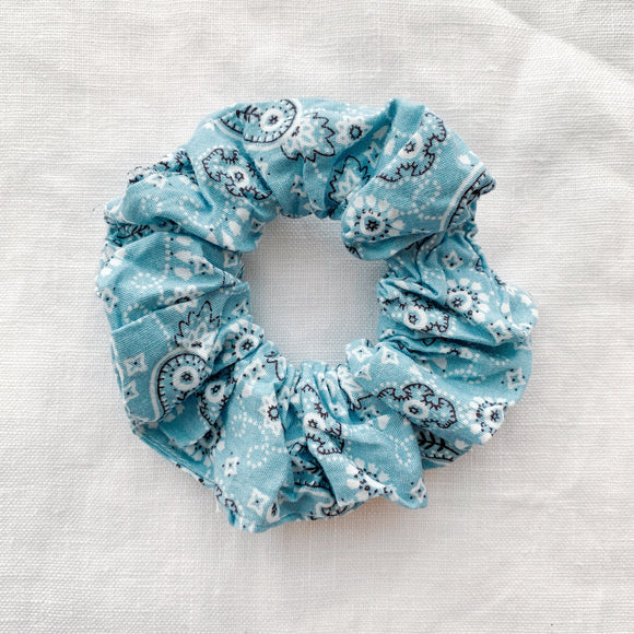 Bandana Scrunchie - Blue