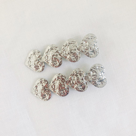 Queen Of Hearts Clips - Silver