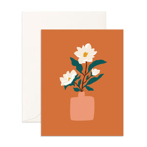 Muse Magnolias Greeting Card