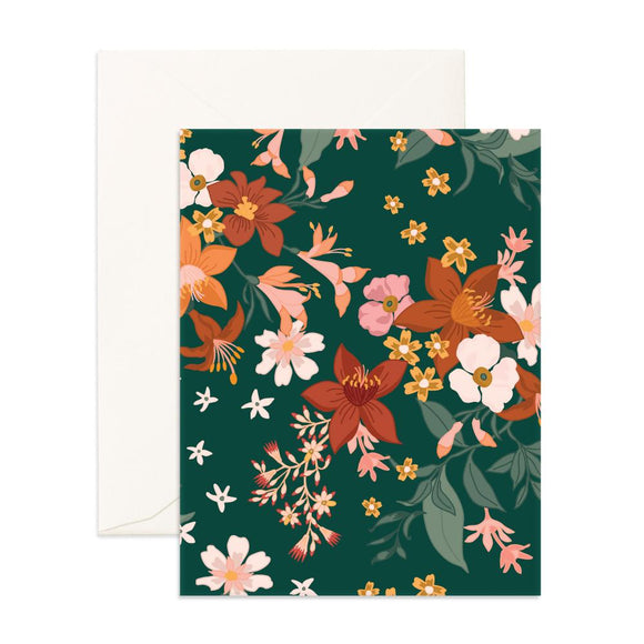 Bohemia Forest Florals Greeting Card