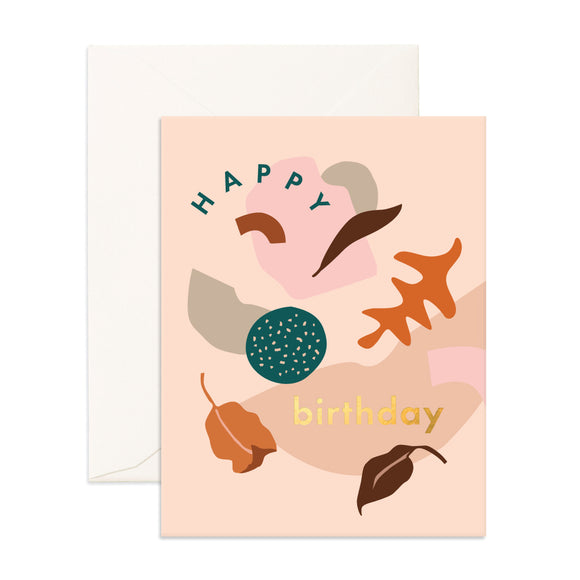 Birthday Shape Party Greeting Card
