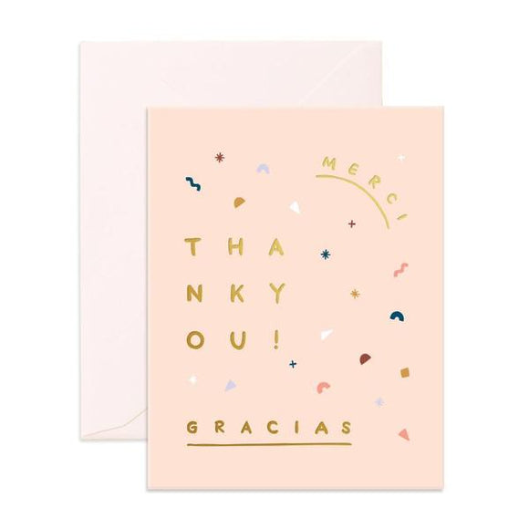 Merci Gracias Thank You Greeting Card