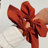 Bow Scrunchie - Rust