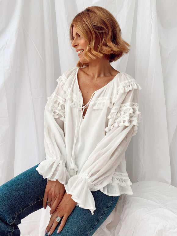Addison Top - White