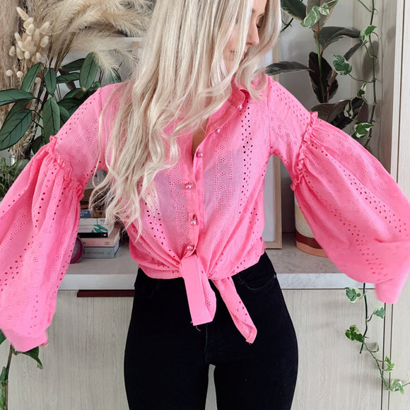 Dreams Come True Blouse - Pink