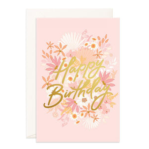 Happy Birthday Floribunda Jumbo Greeting Card