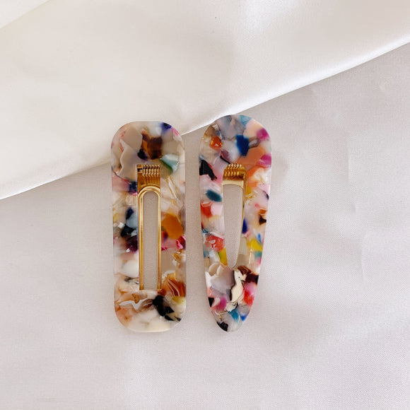 Colourful Hair Clips - Combo Set of 2