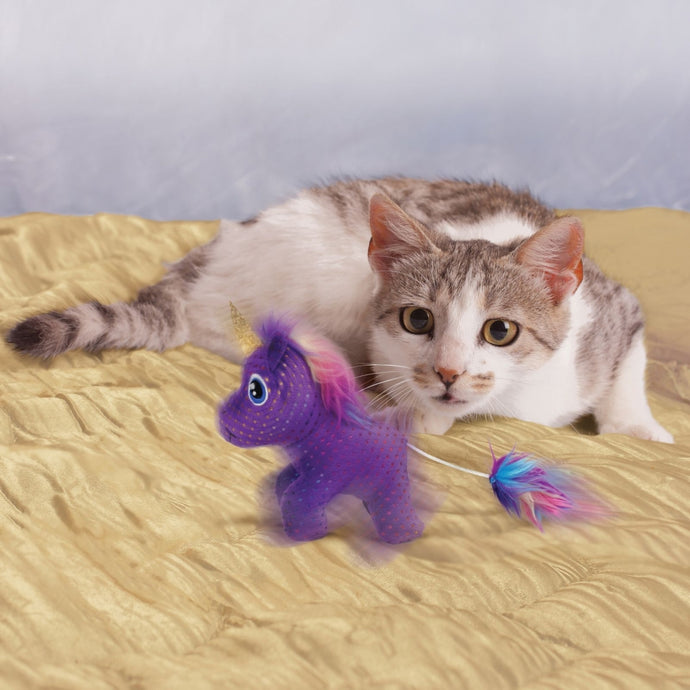 KONG Enchanted Buzzy Unicorn Cat Toy - The Vet Store Online