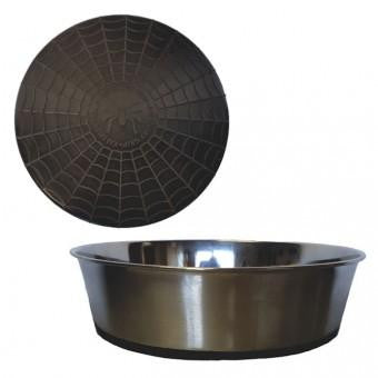Bowl, S/Steel Heavy with Black Rubber Base - The Vet Store Online