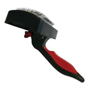 Brush Slicker, Self Cleaning Retractable - The Vet Store Online