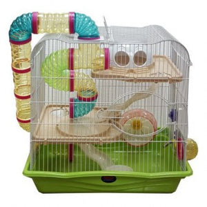 Hamster Cage, Wire 2 Storey with Tubes - The Vet Store Online