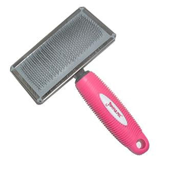 Brush Slicker, Metal with Pink Handle - The Vet Store Online
