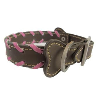 PUCCI Leather Collar with Braiding - The Vet Store Online