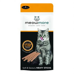 Meow More Treat Sticks (15g / 3 sticks) - The Vet Store Online