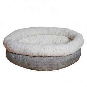 Bed, Deep Tweed Teddy Bear Round - The Vet Store Online