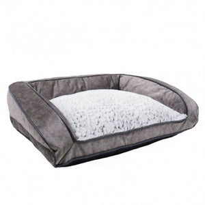 Bed, Luxury Fleece Lined Plush Sofa (74cm) - The Vet Store Online