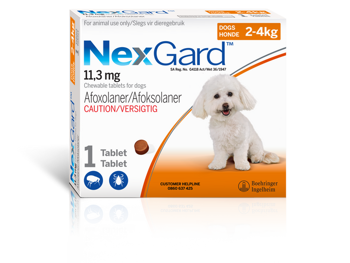 Nexgard Tick and Flea tablet for Dogs Single tablet per box
